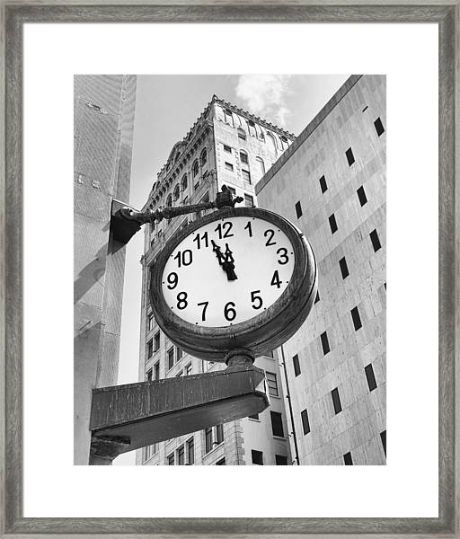 Street Clock Framed Print