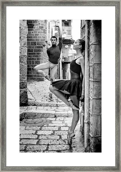 Street Dance Framed Print