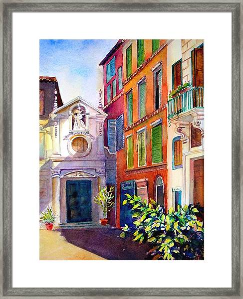 Street In Rome Framed Print