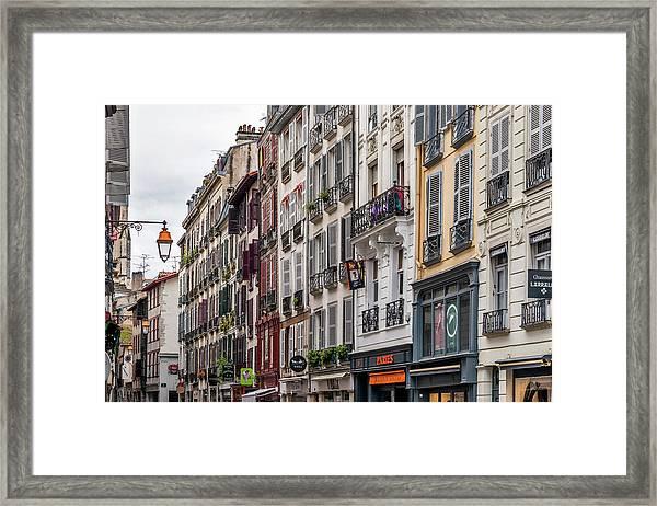Street In The Grand Bayonne Quarter Framed Print