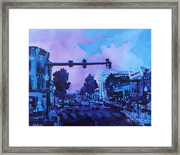 Street Life On Broad Street Framed Print