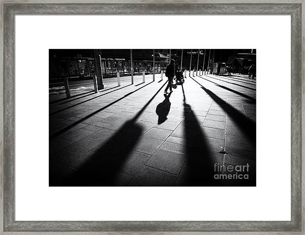 Street Shadow Framed Print