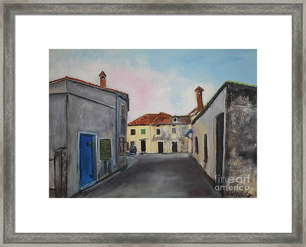 Street View From Kavran Framed Print