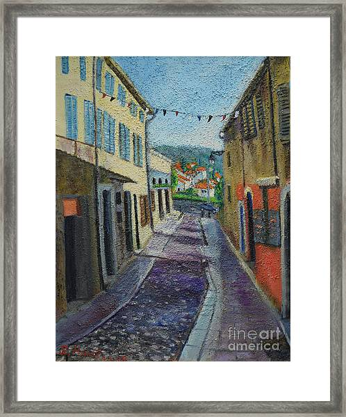 Street View From Provence Framed Print
