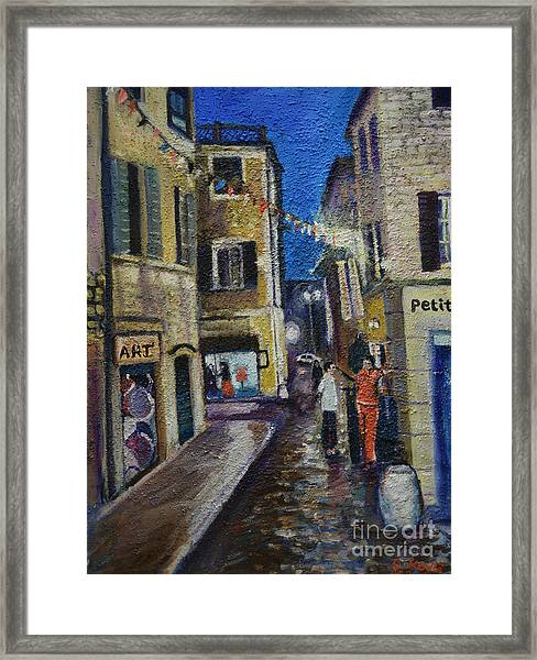 Street View Provence 2 Framed Print