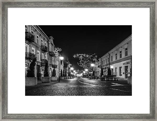 Streets Before Christmas Framed Print