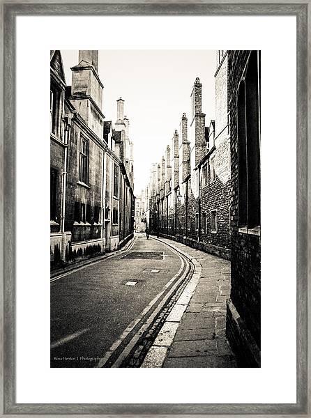 Streets Of Cambridge - For Eugene Atget Framed Print