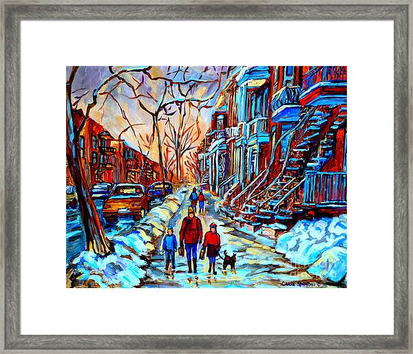 Streets Of Montreal Framed Print