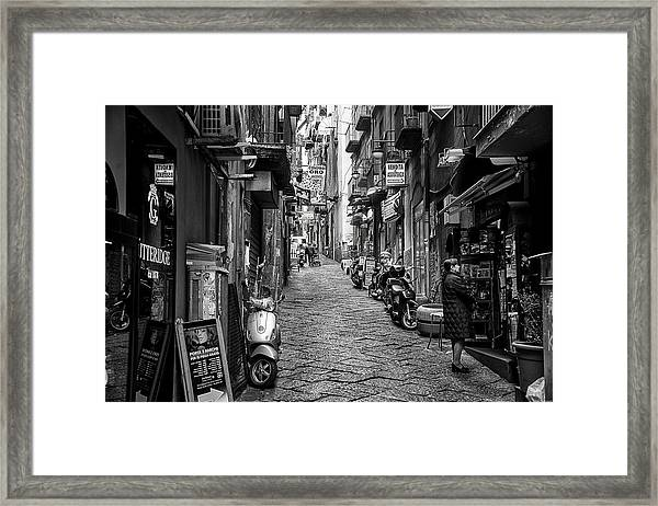 Streets Of Naples Framed Print