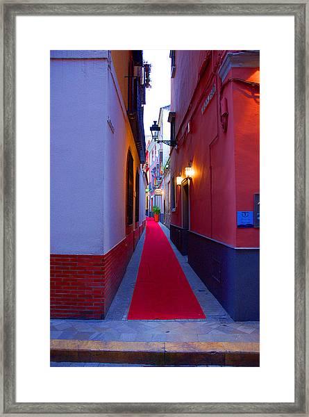 Streets Of Seville - Red Carpet  Framed Print