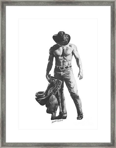 Strength Of A Cowboy Framed Print