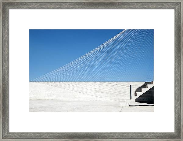 Strings And Shadows Framed Print by Linda Wride