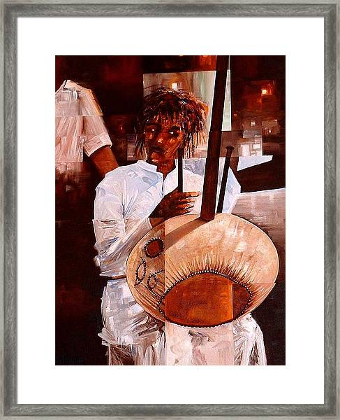 Strings Framed Print by Laurend Doumba