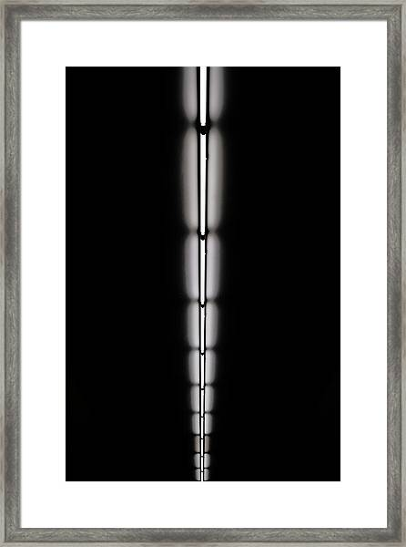 Strip Of Florescent Lighting Framed Print by Win-initiative