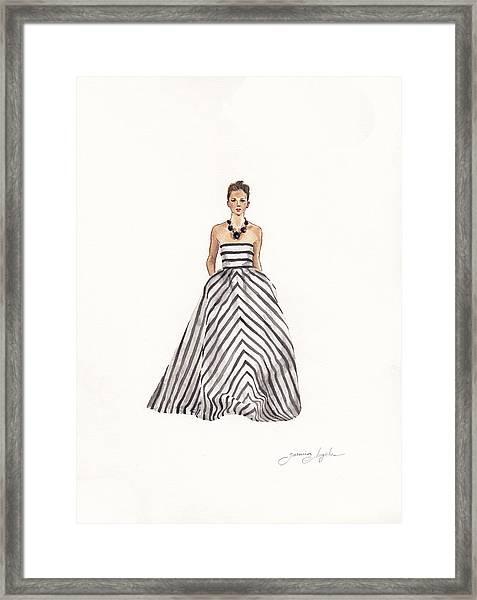 Striped Glamour Framed Print