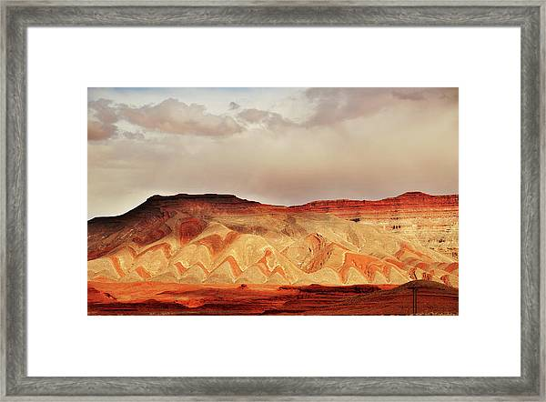 Striped Mountains Near Mexican Hat Utah Framed Print