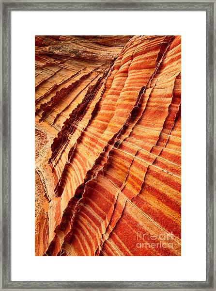 Striped Sandstone Framed Print