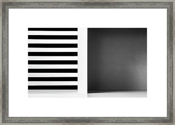 Stripes And Shadows Framed Print by Inge Schuster
