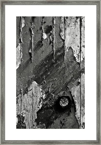 Stripping Hull Of An Old Abandoned Ship Framed Print