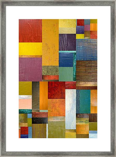 Strips And Pieces Ll Framed Print