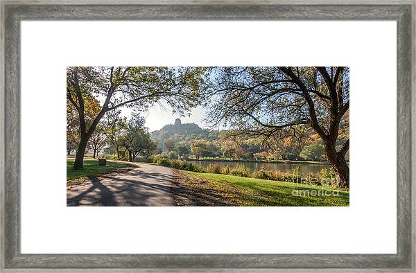 Framed Print featuring the photograph Stroll With Sugarloaf by Kari Yearous