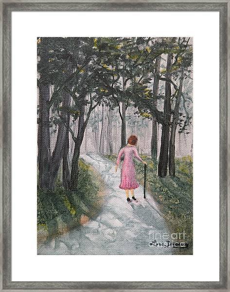 Strolling Down Memory Lane Framed Print