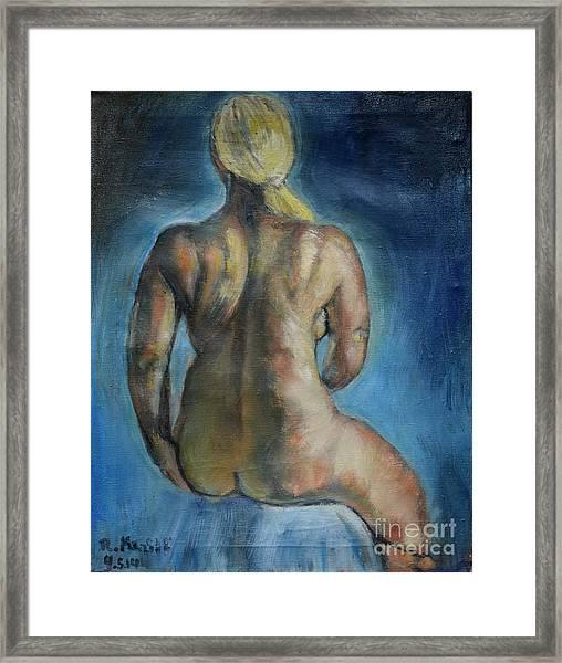 Strong Blond's Back Framed Print