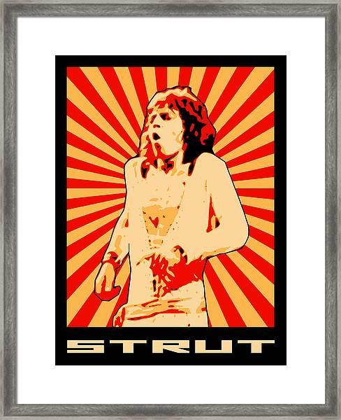 Strut Framed Print