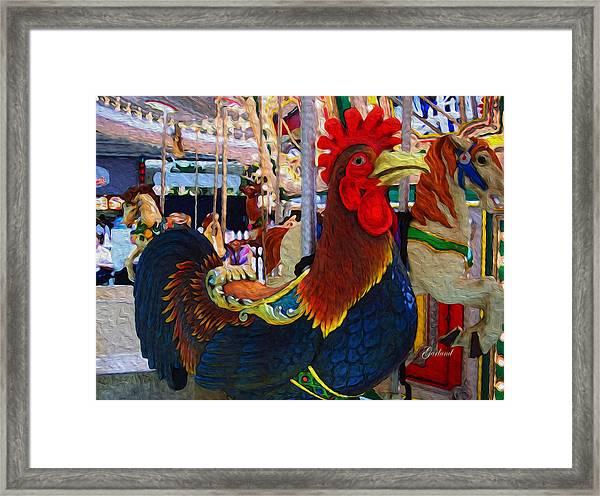 Strutter Framed Print