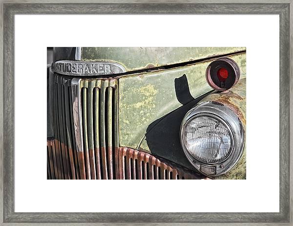 Framed Print featuring the photograph Studebaker Truck by Gigi Ebert