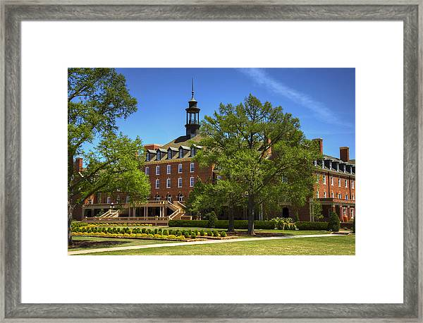 Student Union At Oklahoma State Framed Print