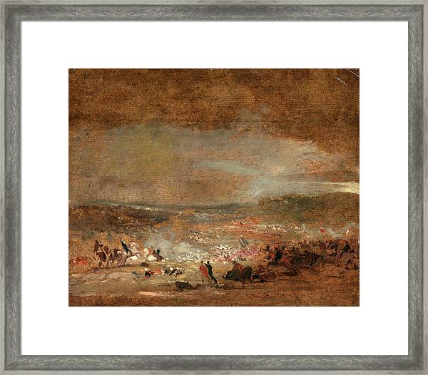 Study For Battle Of Waterloo Study For Battle Of Waterloo Framed Print by Litz Collection