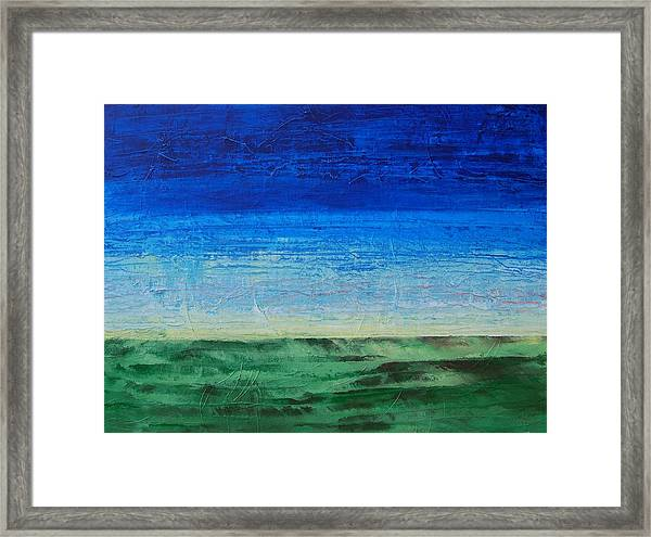 Study Of Earth And Sky Framed Print