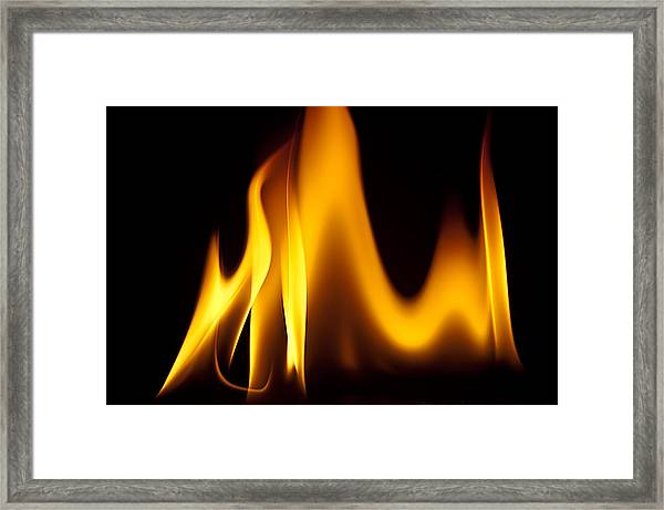Study Of Flames I Framed Print by Patrick Boening