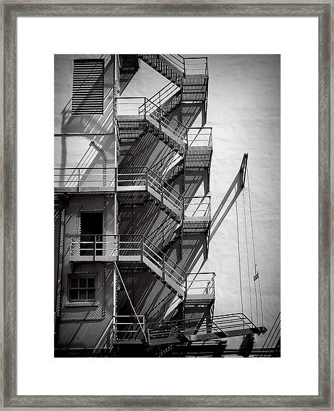 Study Of Lines And Shadows Framed Print