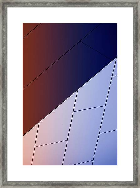 Study Of Patterns, Lines And Colors Framed Print by Roland Shainidze Photogaphy