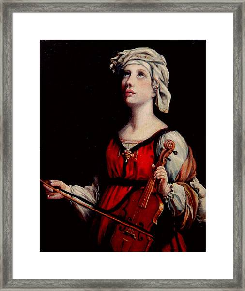 Study Of St. Cecelia Framed Print