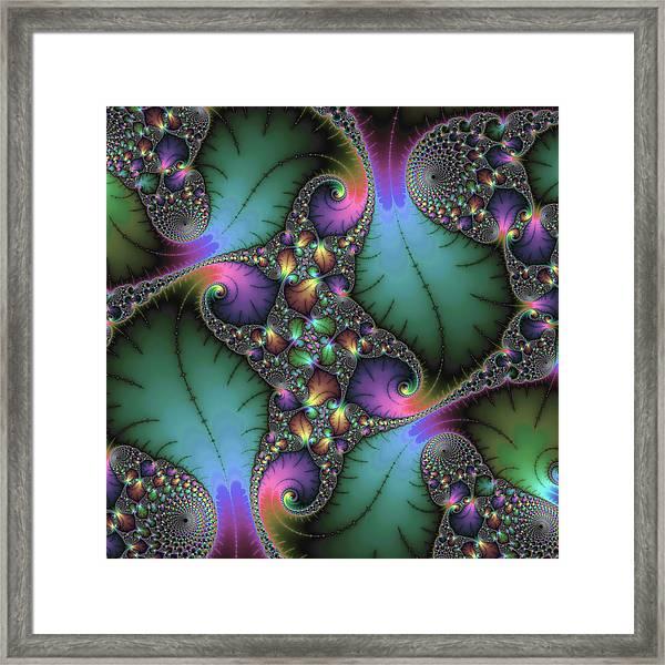 Stunning Mandelbrot Fractal Framed Print