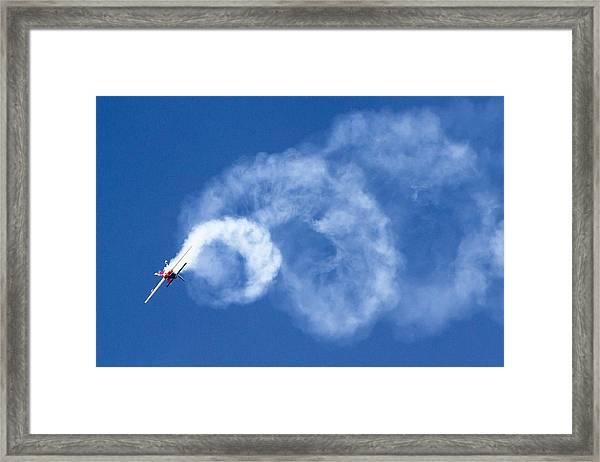 Stunt Plane Corkscrew Framed Print