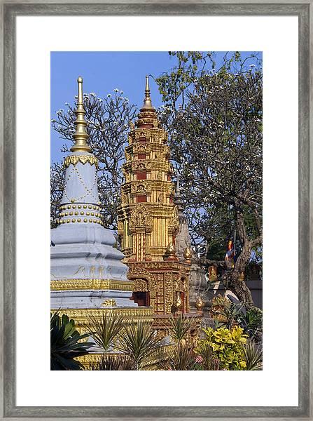 Stupas, Wat Preah Prom Rath, Siem Reap Framed Print