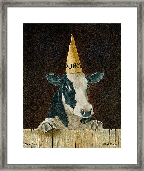 Stupid Cow... Framed Print