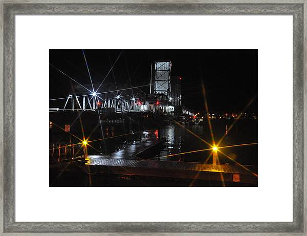 Sturgeon Bay Bridge Framed Print
