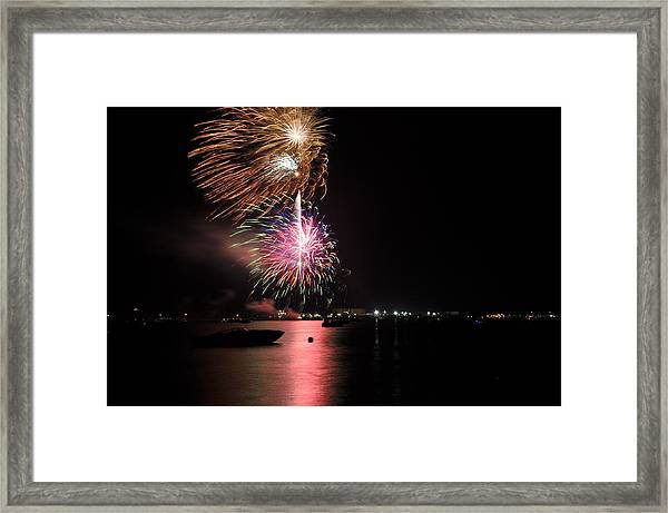 Sturgeon Bay Fireworks Framed Print