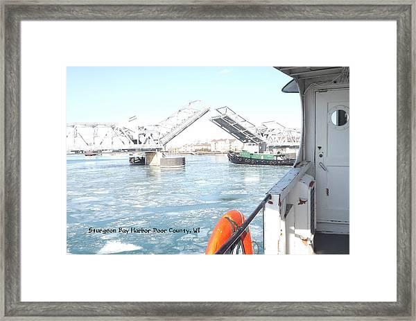 Sturgeon Bay's Working Harbor Framed Print