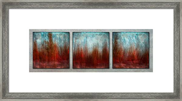 Stylized Beach Grasses Framed Print