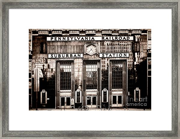 Suburban Station Framed Print