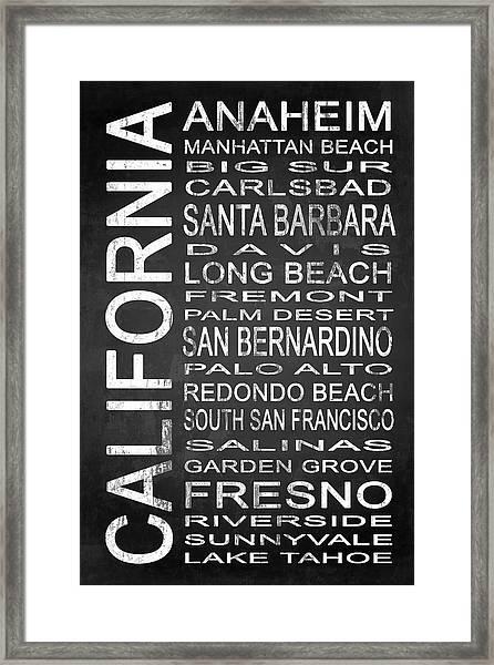 Subway California State 4 Framed Print