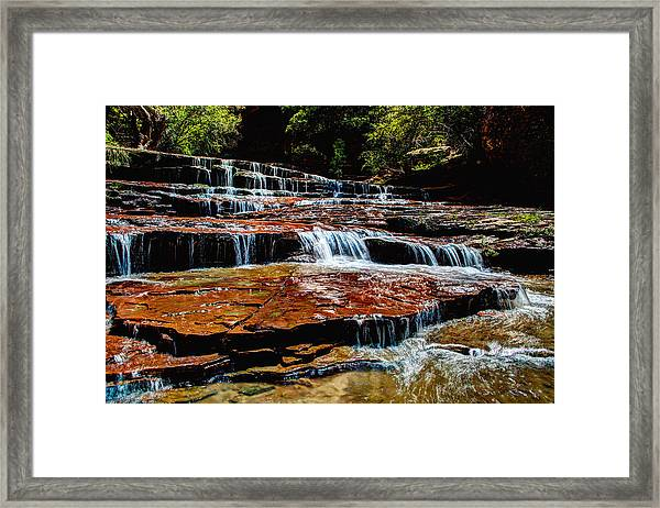 Subway Falls Framed Print