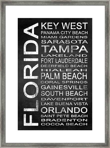 Subway Florida State 3 Framed Print