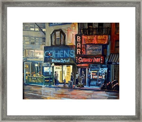 Subway Inn New York City Nyc Framed Print